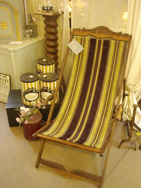 French exotic wood folding/deck chairs