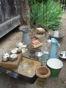 jam jars by the barn door