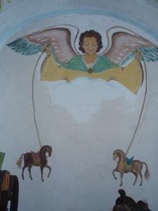 horses and angel