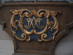 gilt and paint oak panel