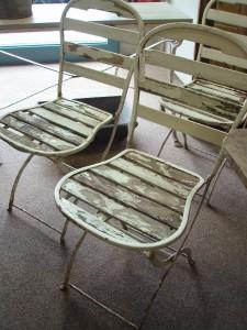 French Metal Framed Folding Garden Chairs Gilli Hanna Decorative