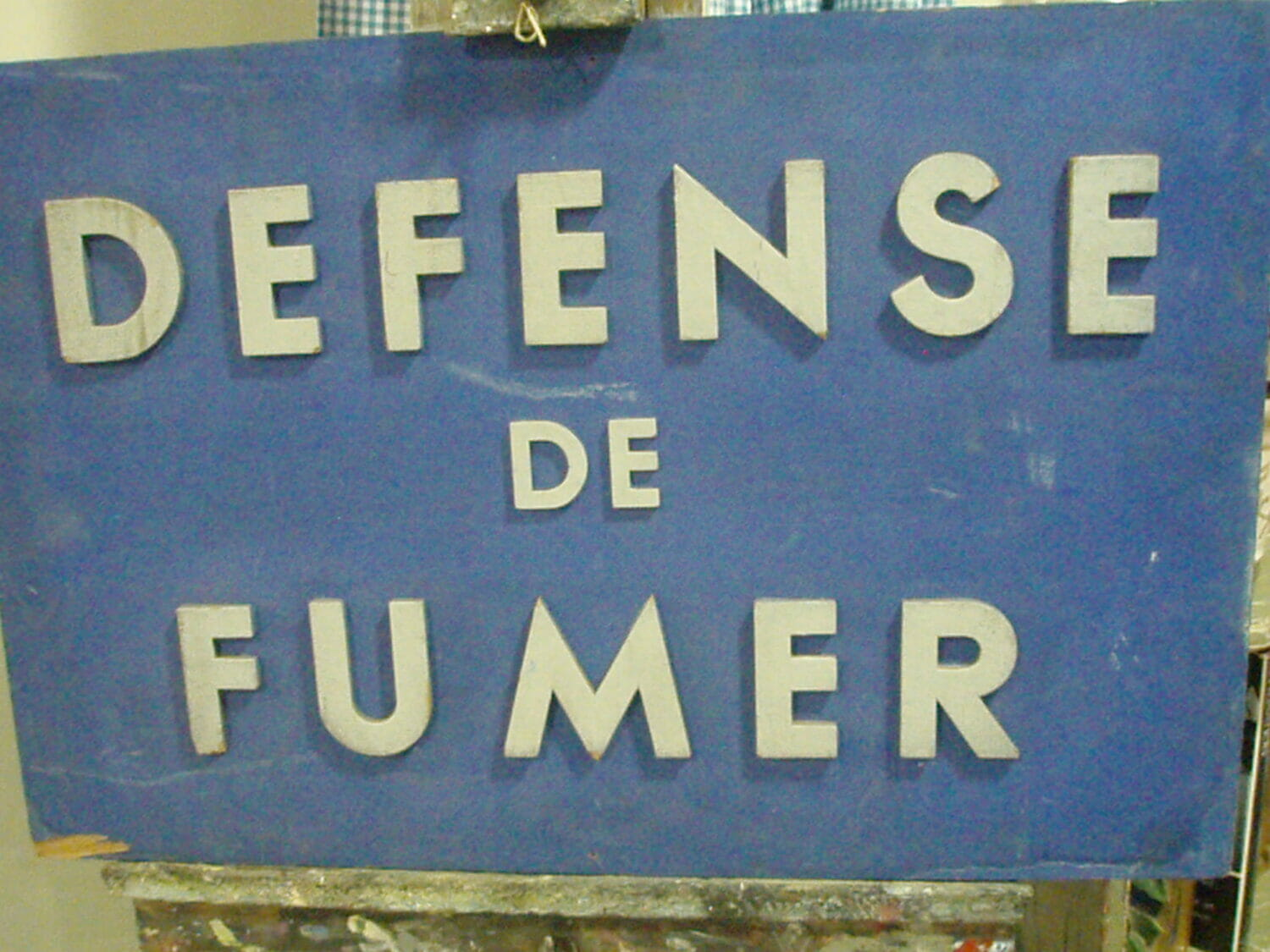 French Defense De Fumer Sign Gilli Hanna Decorative Antiques
